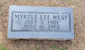 WEST, MYRTLE LEE - Union County, Kentucky | MYRTLE LEE WEST - Kentucky Gravestone Photos