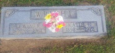 WRIGHT, KATIE B - Union County, Kentucky | KATIE B WRIGHT - Kentucky Gravestone Photos