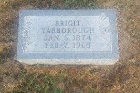 YARBOROGH, BRIGIT - Union County, Kentucky | BRIGIT YARBOROGH - Kentucky Gravestone Photos