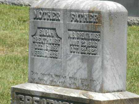 GREATHOUSE, SARAH - Warren County, Kentucky | SARAH GREATHOUSE - Kentucky Gravestone Photos