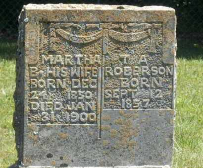 ROBERSON, MARTHA B. - Warren County, Kentucky | MARTHA B. ROBERSON - Kentucky Gravestone Photos