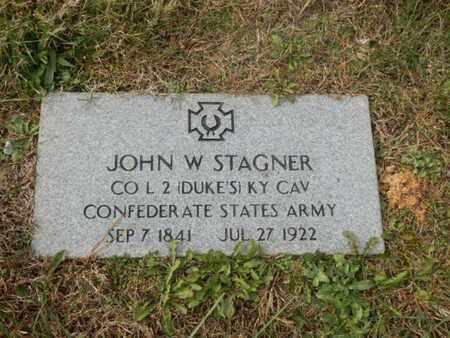 STAGNER (VETERN CSA), JOHN W. (NEW) - Warren County, Kentucky   JOHN W. (NEW) STAGNER (VETERN CSA) - Kentucky Gravestone Photos