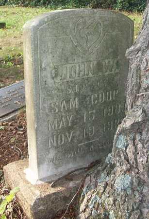 COOP, JOHN W - Wayne County, Kentucky | JOHN W COOP - Kentucky Gravestone Photos