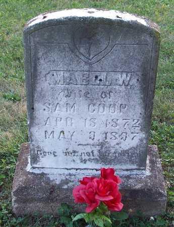 COOP, MABEL W - Wayne County, Kentucky | MABEL W COOP - Kentucky Gravestone Photos