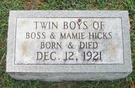 HICKS, TWIN BOYS - Wayne County, Kentucky | TWIN BOYS HICKS - Kentucky Gravestone Photos